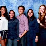 AREA with Candice Patton (aka Iris West of Flash) and Danielle Panabaker (aka Caitlin Snow Killer Frost of Flash)